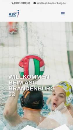 Vorschau der mobilen Webseite www.asc-brandenburg.de, ASC Brandenburg