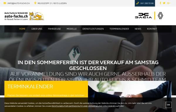 Vorschau von www.fuchs-auto.ch, Garage W. Fuchs