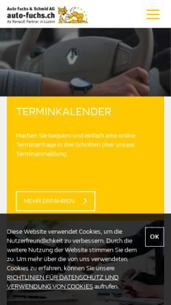 Vorschau der mobilen Webseite www.fuchs-auto.ch, Garage W. Fuchs