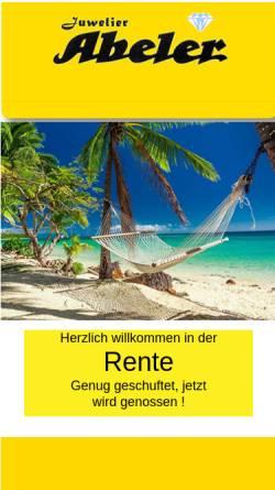 Vorschau der mobilen Webseite www.juwelier-abeler.de, Juwelier Abeler
