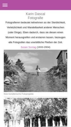 Vorschau der mobilen Webseite www.dascal.de, Karin Dascal