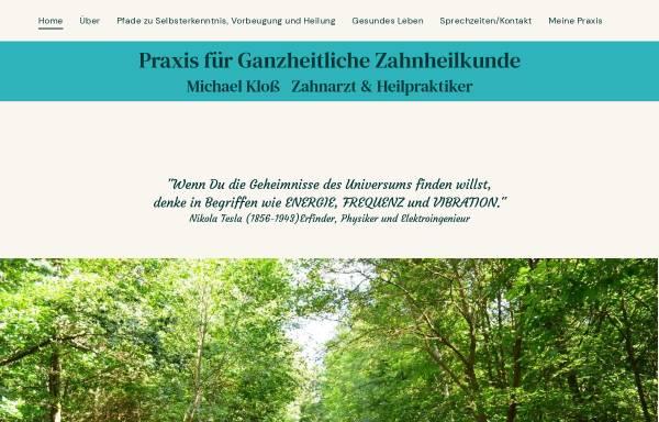 Vorschau von www.zahnarzt-pankow.de, Michael Klos - Homöopathie für Menschen und Tiere