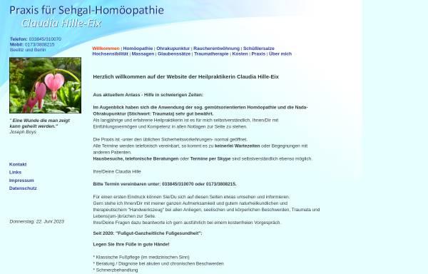 Vorschau von heilpraxis-hille.de, Naturheilpraxis Claudia Hille
