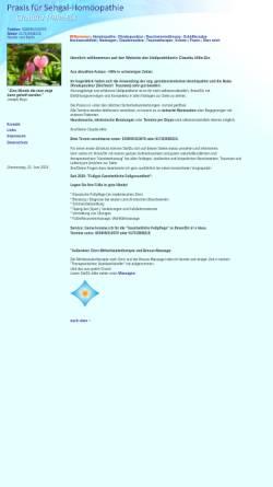 Vorschau der mobilen Webseite heilpraxis-hille.de, Naturheilpraxis Claudia Hille