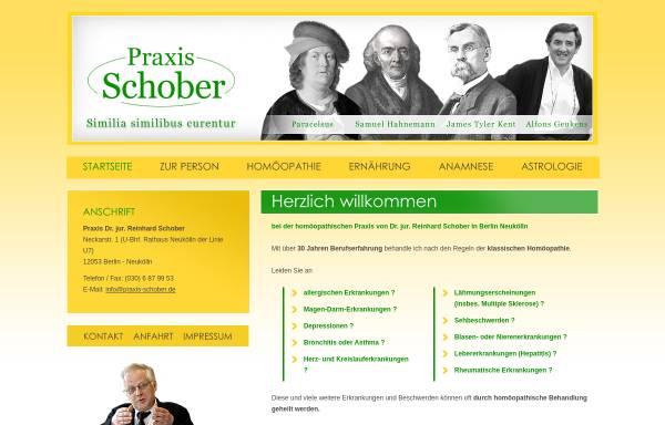 Vorschau von www.praxis-schober.de, Praxis Dr. jur. Reinhard Schober