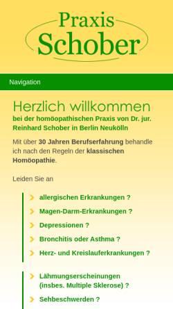 Vorschau der mobilen Webseite www.praxis-schober.de, Praxis Dr. jur. Reinhard Schober