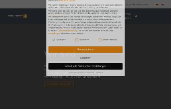 Vorschau von www.krehl.com, Krehl & Partner Unternehmensberatung für Produkt + Technik GmbH