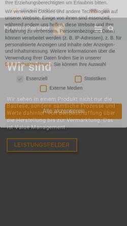 Vorschau der mobilen Webseite www.krehl.com, Krehl & Partner Unternehmensberatung für Produkt + Technik GmbH