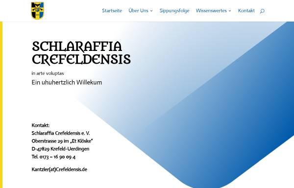 Vorschau von www.crefeldensis.de, Schlaraffia Crefeldensis e.V.