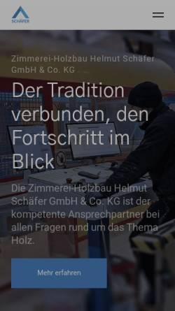 Vorschau der mobilen Webseite www.zimmerei-schaefer.de, Zimmerei Schäfer