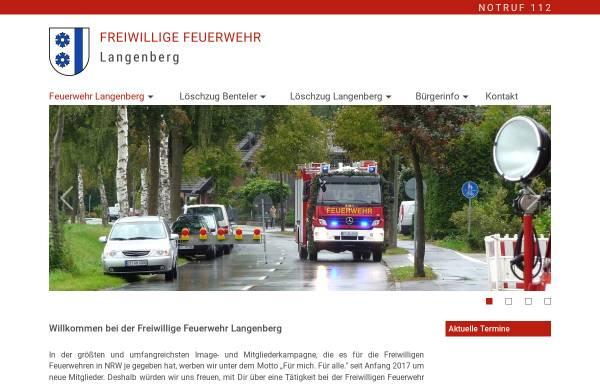 Vorschau von www.feuerwehr-langenberg.de, Freiwillige Feuerwehr