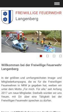 Vorschau der mobilen Webseite www.feuerwehr-langenberg.de, Freiwillige Feuerwehr