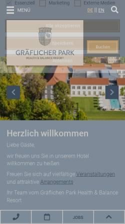 Vorschau der mobilen Webseite www.graeflicher-park.de, Gräfliches Parkhotel Bad Driburg