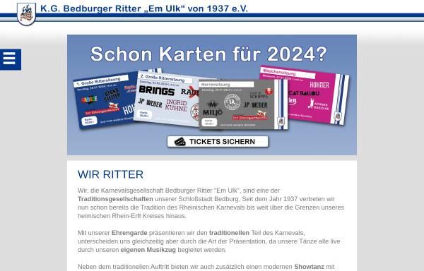 Vorschau von www.bedburger-ritter.de, Karnevalsgesellschaft Bedburger Ritter Em Ulk von 1937