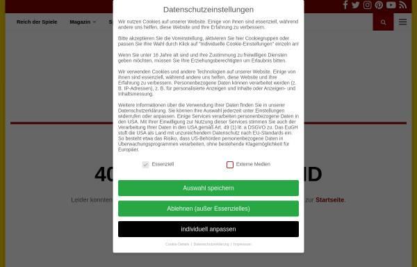 Vorschau von www.reich-der-spiele.de, Reich der Spiele: Die ersten Siedler - Interview mit Klaus Teuber