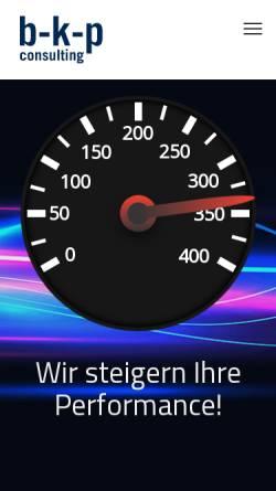Vorschau der mobilen Webseite www.b-k-p.de, Buchele & Kremer Produktivitätsberatung GmbH