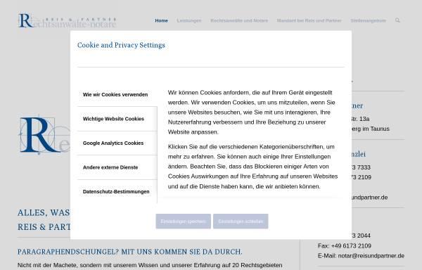 Vorschau von www.reisundpartner.de, Rechtsanwälte Reis und Partner