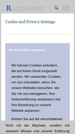 Vorschau der mobilen Webseite www.reisundpartner.de, Rechtsanwälte Reis und Partner