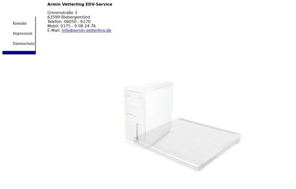 Vorschau von www.armin-vetterling.de, Armin Vetterling - EDV-Service