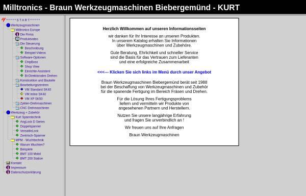 Vorschau von www.braun-wzm.de, Braun GmbH