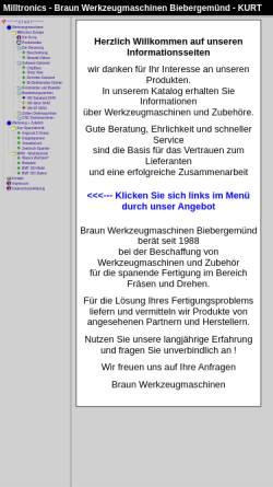 Vorschau der mobilen Webseite www.braun-wzm.de, Braun GmbH