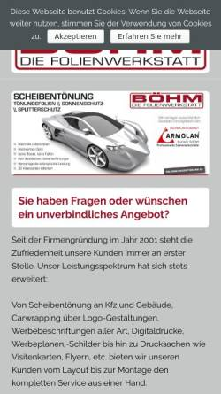 Vorschau der mobilen Webseite www.cardesign-boehm.de, Cardesign-Boehm