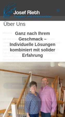 Vorschau der mobilen Webseite rieth-treppenbau.de, Josef Rieth Treppen- und Innenausbau