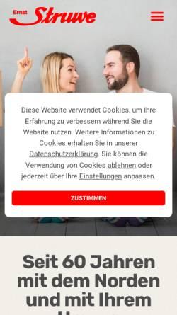 Vorschau der mobilen Webseite www.struwe-umzuege.de, Ernst Struwe, Möbelspedition