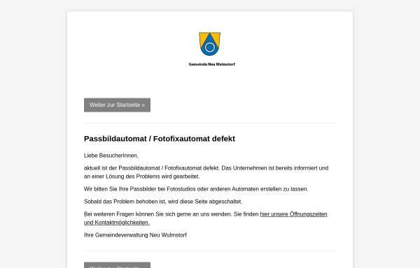 Vorschau von www.neu-wulmstorf.de, Gemeinde Neu Wulmstorf