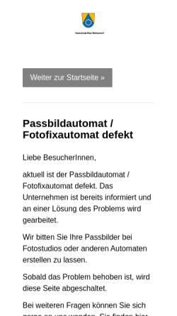 Vorschau der mobilen Webseite www.neu-wulmstorf.de, Gemeinde Neu Wulmstorf