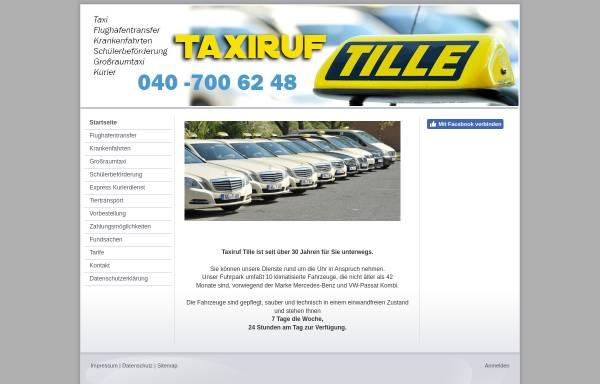 Vorschau von www.taxiruf-tille.de, Taxiruf Tille