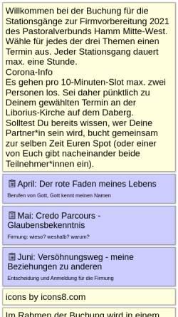 Vorschau der mobilen Webseite www.pelkum-herringen.de, Pastoralverbund Pelkum-Herringen