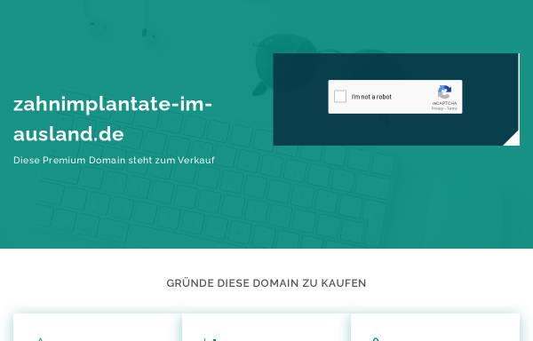Vorschau von www.zahnimplantate-im-ausland.de, Zahnimplantate im Ausland