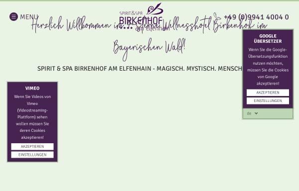 Vorschau von www.hotel-birkenhof.de, Kurhotel Birkenhof
