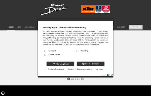 Vorschau von www.motorrad-donnecker.de, Motorrad Donnecker