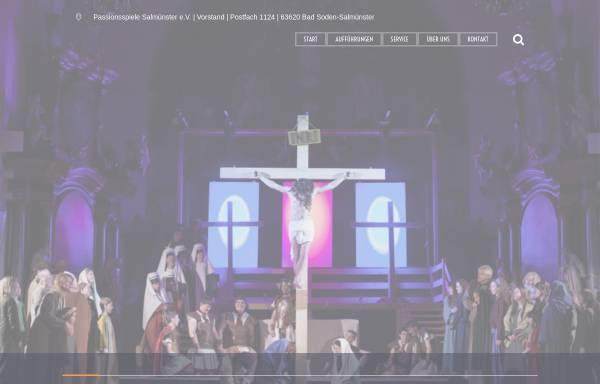 Vorschau von www.passionsspiele-salmuenster.de, Passionsspiele Salmünster e.V.