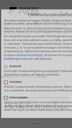 Vorschau der mobilen Webseite www.peta-formenbau.de, PETA Formenbau GmbH