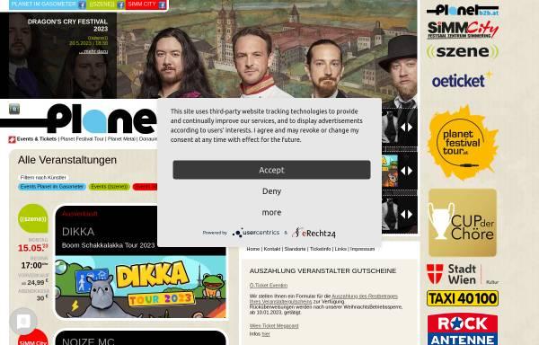 Vorschau von www.planet.tt, Planet Music and Media