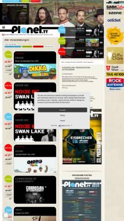 Vorschau der mobilen Webseite www.planet.tt, Planet Music and Media