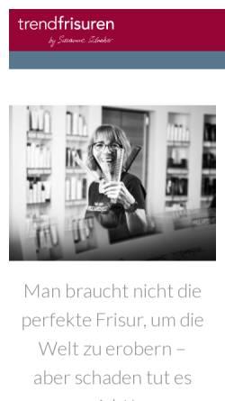 Vorschau der mobilen Webseite www.trend-frisuren.at, Trend-Frisuren - Susanne Schreiber