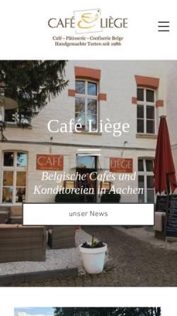 Vorschau der mobilen Webseite www.cafe-liege.de, Aachen-Marktplatz