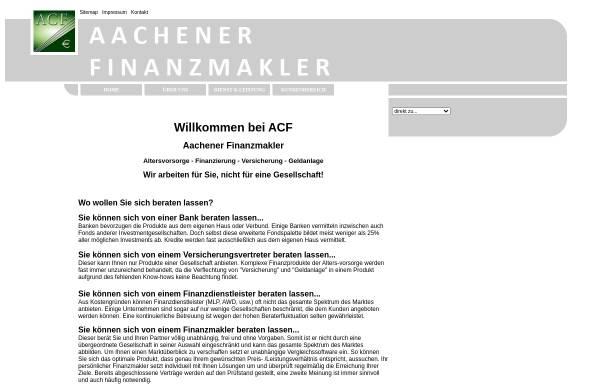Vorschau von www.aachen-f.de, Aachener Finanzmakler (ACF)