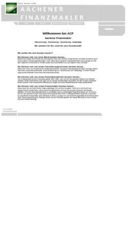 Vorschau der mobilen Webseite www.aachen-f.de, Aachener Finanzmakler (ACF)