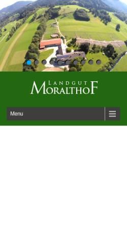 Vorschau der mobilen Webseite landgut-moralthof.de, Reitanlage Moralthof