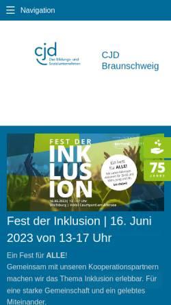 Vorschau der mobilen Webseite www.cjd-braunschweig.de, CJD Jugenddorf - Christophorusschule Braunschweig