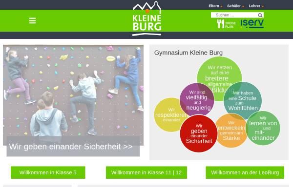 Vorschau von www.kleineburg.de, Gymnasium Kleine Burg