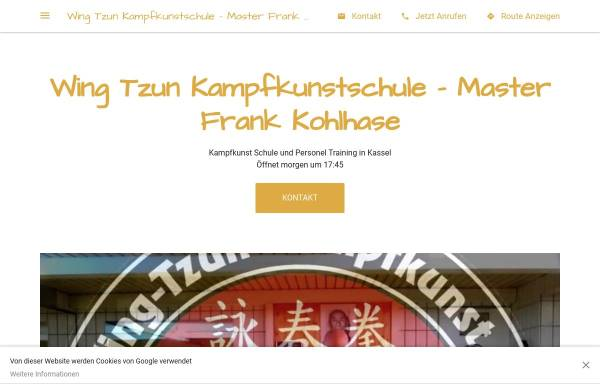 Vorschau von wing-tzun-kampfkunst.de, EBMAS-Schulen Frank Kohlhase
