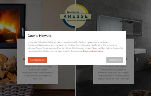 Vorschau von www.baederstudio-kresse.de, Bäderstudio Kresse- Sanitär, Heizung, Bad