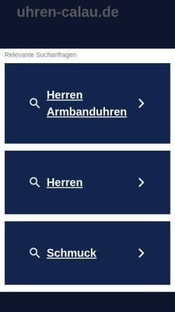 Vorschau der mobilen Webseite www.uhren-calau.de, Reinhard und Dagmar Hemmerling GbR