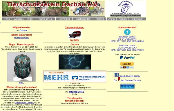 Vorschau von www.tierschutz.dachau.net, Tierschutzverein Dachau